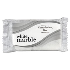 White Marble Cleansing Bar Soap, # 3-4 Individually Wrapped Bar, 1000-carton, Dial Amenities