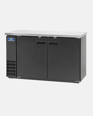 ARCTIC AIR: ABB72: SOLID BACK BAR REFRIGERATOR - THREE DOOR 72