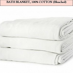 Bleached Bath Blanket-Actual product may vary due to product enhancement