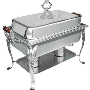 Crown Chafer, 8 Qt., Full Size, Mirror finish  stainless steel