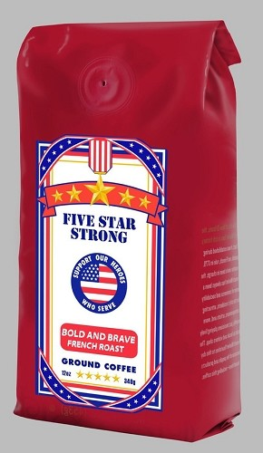 Hospitality-Five Star Strong-Bold and Brave French Roast, 12 oz. bag GROUND COFFEE, Each
