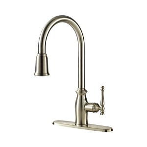 Ultra Faucets UF13403 Transitional Collection Single-Handle Kitchen Faucet with Pull-Down Spray, Stainless Steel (low as $179.25)