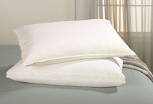 Hotel Cambric Down Filled, MEDIUM Sleeping Pillow 230 Thread Count, Standard Size