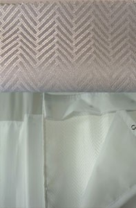 Chevron Fabric Pattern - White Shown