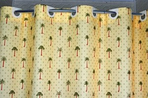 New Item:- Hookless PALM TREE-Hawaii, Shower Curtain, 100% polyester 72