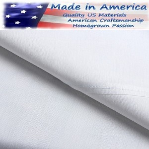 250 Tc American Made 60% Cotton/40% White Percale Elegance Hotel Casino Flat Sheets, TWIN FITTED - 39 x 80+15