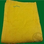 Solid Yellow Color 16's Ring Spun Cotton Pool Towel - 30x60