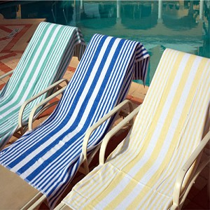 WHOLESALE RESORT-HOTEL Oxford TROPICAL STRIPE POOL/BEACH Towels, 30