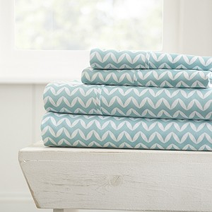 HOME PUFFED CHEVRON- Patterned 4-Piece Sheet Set. From ($20.99 to $28.99 Set)