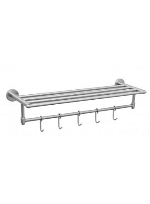 Crescent Suite- TOWEL RACK With HOOKS, Brush Finish, (low as $ 53.96 each)