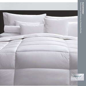 Elevations Comforter-3 distinct zones of fill quantity
