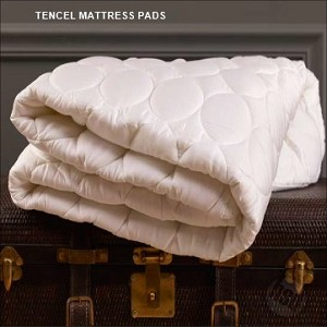 Twin Size, Mattress Pad, 300 TC Tencel™ Lycocell Top layers, Polyester Bottom & Skirt, White, by Down Inc, (starting at $63.17 ea)