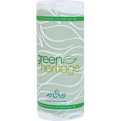 Atlas Paper Mills Green Heritage KITCHEN ROLL TOWELS, White, 85 Sheets, 2-Ply, 30/Rolls/case