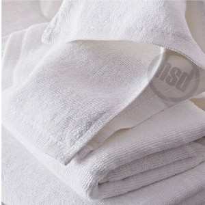 Solid White Color Pool Towel, 100% Ring Spun Cotton, 30
